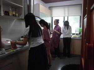 从左至右:张辰铭,张蕾,唐若瑜,季元圆